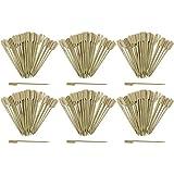 COM-FOUR 300x Spiedini fingerfood in legno di bambù - Spiedini in legno con ampia superficie di presa per una presa migliore - ideale per buffet o gastronomia (300 pezzi - 15 cm con manico)
