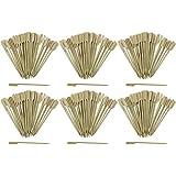 Com-Four 300x amuse-bouches brochettes avec poignées en bois bambou, env. 15cm