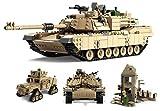 Mini Figuren ABRAMS Panzer \ Hummer Mit 5 Armee-Minifiguren Bausteine Krieg Panzer Humvee Armee Krieg Soldat-Bausteine Lego kompatibel Lego kompatible Minifigur