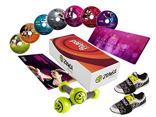 Zumba-Set, Exhilarate-Komplettset, join the Party inkl. Ernährungsplan und Zumba® Fitness Toning Sticks zumba fitness zumba video zumba workout