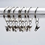 Musuntas 30 Stk. 30mm Durchmesser Mehrzweck Vorhang Clip Gardinenstange Gardinenringe Vorhangringe mit Clips