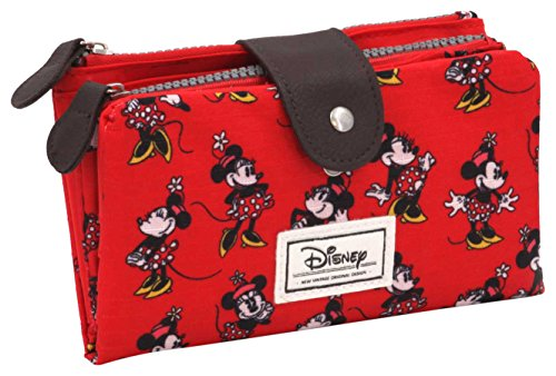 Disney Classic Minnie Cheerful Münzbörse, 18 cm, Rot (Rojo)