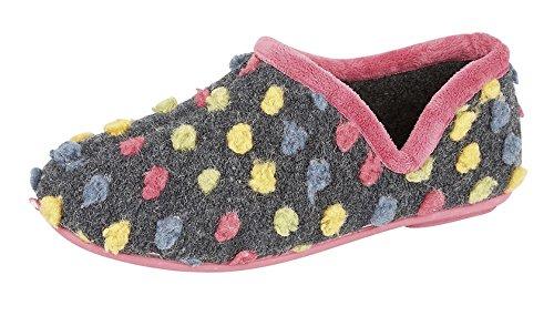 Sleepers Damen Jade Hausschuhe/Pantoffeln, Gepunktet (38 EUR/5 UK) (Fuchsia/Bunt) - Zurück Sleeper