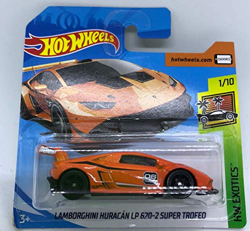 Hot Wheels 2018 Lamborghini Huracan LP 620-2 Super Trofeo Orange 1/10 HW Exotics 268/365 (Short Card)