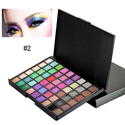 OYOTRIC 54 Couleurs Pro Fard à Paupières Palette Maquillage Mat + Shimmer Hautement pigmenté Yeux Cosmétique