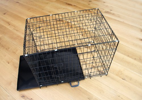 Easipet Dog Puppy XXLarge Black Metal Training Cage Crate 48 2