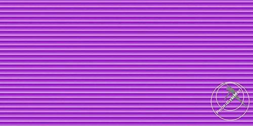 Gymnastikmatte / Yogamatte - ProfiGymMat 180 mit Ösen, 1.0 cm, lila