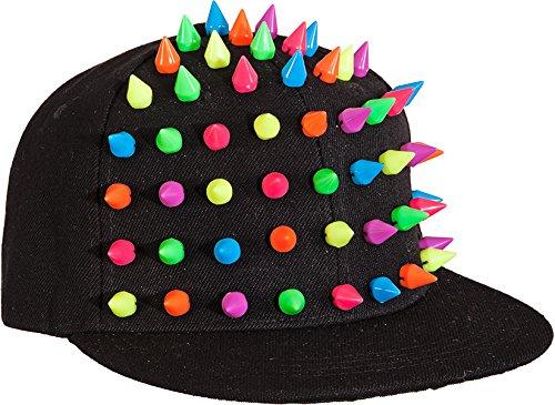 Hut: Basecap Spike, schwarz-neon