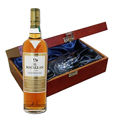 Macallan Gold Whisky In Luxury Box With Royal Scot Glass
