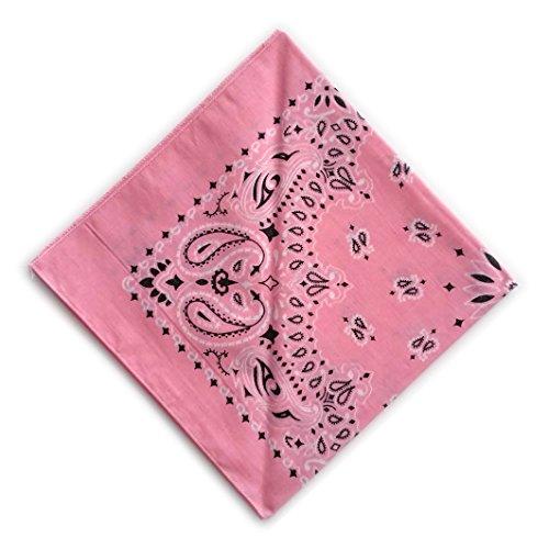 Bandana Hav-A-Hank - Motif Paisley - 100% coton - 26 coloris - Made in USA Rose