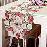 Axiba Runner Waterproof Embroidery Hollow Tablecloth Christmas Party Wedding Decorations 40 * 210