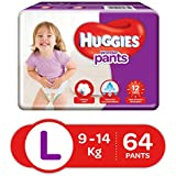 Huggies Wonder Pants Diapers, Large (Pack of 64)