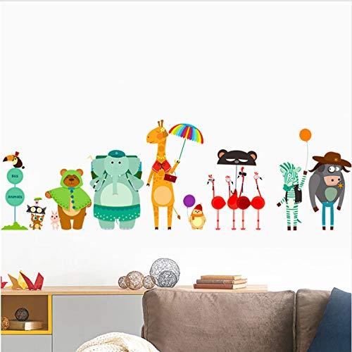 Hhkx100822 adesivi murali animali giraffa orso elefantino zebra camera degli infanti finestra dei bambini decorazione adesivo art poster