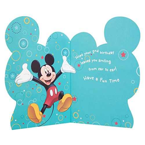 Image of Hallmark Disney 2nd Birthday Mickey Mouse Card Have Fun - Medium