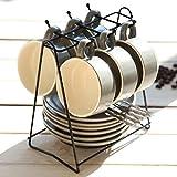 BBSLT USDopean-style semplici tazze di ceramica personalizzati tazza da caffè insieme osso di cina tazzine di caffè con convogliatore piatto set regalo,un