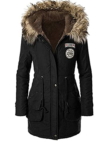 Très Chic Mailanda Damen Winter Mantel Parka Fleecejacke Trenchcoat Hoodie Pelz Kapuzenjacke viele