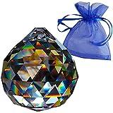 Kristall Kugel ø 40mm im Geschenkbeutel - Regenbogenkristall - Esoterik - Kristallglas - Exklusiv