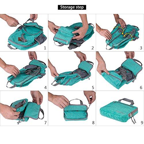 Faltbarer Rucksack 15 30 35 Liter Ultra Leicht für Outdoor Wandern, Camping Reisen und vieles mehr. Grün