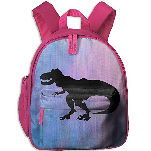 Kindergarten Boys Girls Backpack Black Fierce Dinosaur School Bag