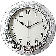 0de44556a461 SEEKSUNG Personalidad Reloj de Pared de la cáscara Creativa Ronda  silenciosa