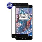 X-Dision OnePlus 3 (Schwarz) 3D Schutzfolie Vollbildschutz Premium HD-Komplettabdeckung 9H Härten von Glasschutz Anti-Fingerabdruck und Anti-Shatter