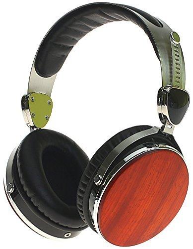 Symphonized Wraith 2.0 Premium Kopfhörer Over-The-Ear Lärmreduzierende aus edlem Holz mit Mikrofon (Kirschrot)