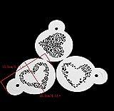 Strumenti di cottura 3 cuore forme spray pattern Decorazione Torta al cioccolato di stampo a spruzzo dello stampo in plastica