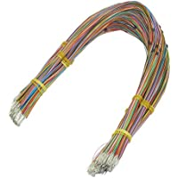 """sourcingmap® 0.5MMx400MM 0.02""""x15.7"""" Tin Plated Copper Wire Wrapping 30AWG Cable 1000 Pcs"""