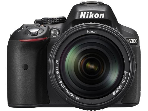Nikon D5300 24.2MP Digital SLR Camera (Black) with 18-140mm VR...