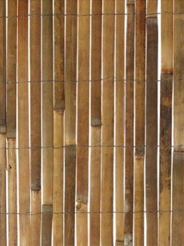 Bambus-Sichtschutz aus Leisten - 4m Rolle, 1,2m hoch