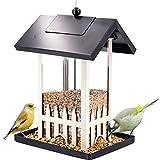 Rziioo Alimentatore per casa per Uccelli all'aperto - Resistente alle intemperie - 4 Fori di Alimentazione - Giardino, Cortile e Patio,D