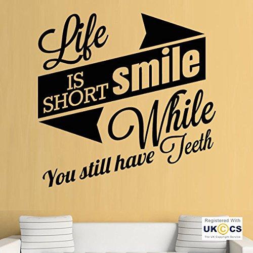 Sonrisa dientes del dentista divertido cita pegatinas de pared Arte calcomaníaas de vinilo del...