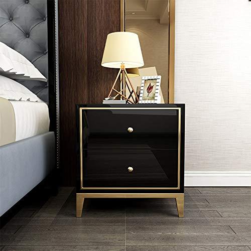 2 Schublade Nachttisch Holz-finish (QZX Möbel Holz Weißer Nachttisch, Moderner Schlafzimmertisch Möbel 2 Schubladen Nachttisch Schublade Kleiner Beistelltisch in hellem Eichen-Finish,White)