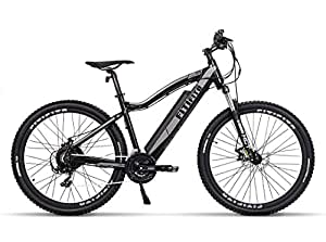 Fitifito MT27,5 Zoll Elektrofahrrad Mountainbike E-Bike Pedelec, 36V 13Ah 468Wh LG Cells Lithium-Ionen USB, 36V 250W Heckmotor, 21 Gang Shimano Schaltung, Mechanische Scheibenbremse