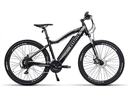 fatbike ebike Fitifito MT27,5 Zoll Elektrofahrrad Mountainbike E-Bike Pedelec, 36V 13Ah 468Wh LG Cells Lithium-Ionen USB, 36V 250W Heckmotor, 21 Gang Shimano Schaltung, Mechanische Scheibenbremse