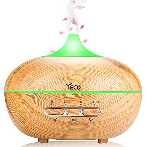 YECO Essential Oil Diffuser, Upgrade Ultrasonic Aromatherapy Aroma Diffuser (Human Body Sensing, Up to 10H Use, Adjustable Cool Mist) - Best Gifts for Her