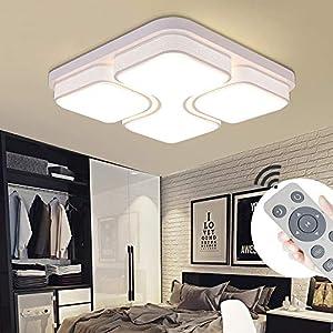 MIWOOHO 64W LED Deckenleuchte Dimmbar Deckenlampe Design Angenehmes Licht Wohnzimmer Beleuchtung Wandleuchte [Energieklasse A++]