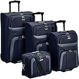 Travelite Orlando 2-Rollen-Trolley Set L/M/S + Boardtasche 4 tlg.