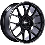 BBS - Llanta Aluminio 8,5X18 CHr 5/112 ET47 CH82,0, Color: Dull Black / Polish