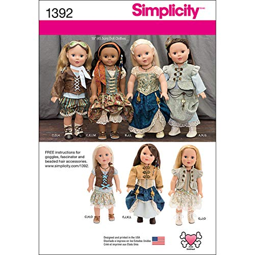 Muster 18 Puppen Für Kostüm - Simplicity us1392os Größe OS Steam Punk Kostüm 18Puppe