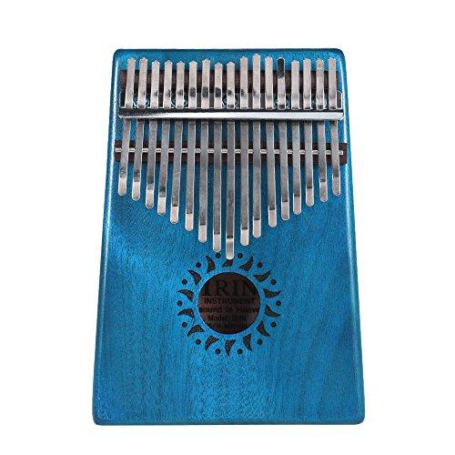 Cshine Portátil de 17 Teclas Kalimba Mbira Pocket Thumb Piano Instrumento Musical de Madera de Caoba Maciza Regalo para Amantes de la música Principiantes Versión Mejorada