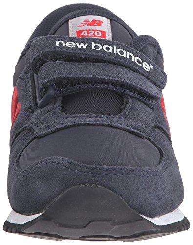 Basket, couleur Noir , marque NEW BALANCE, modèle Basket NEW BALANCE KE420 Noir Bleu (Navy/Red/415)