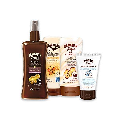 Hawaiian Tropic Pack Ultra Protección - Kit de Protección...