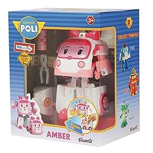 Rocco Juguetes 83095-Robocar Poli Amber personaggio Convertible con Luces