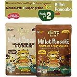 Slurrp Farm Millet Pancake Mix, Banana, Choco-Chip, Supergrains and Chocolate, 300g (Pack of 2)