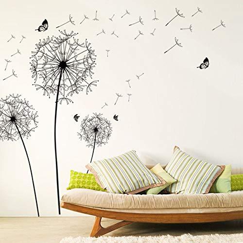 löwenzahn blume wandaufkleber dekoration wohnzimmer schlafzimmer möbelkunst aufkleber schmetterling wandbilder