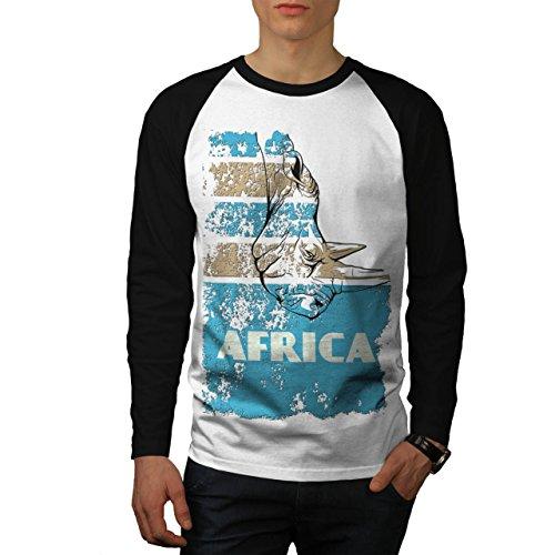 Dschungel Wüste Cool Afrika Land Leben Herren S Baseball lange Ärmel T-Shirt | Wellcoda (Land-baseball-jersey)