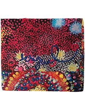 Desigual Foulard_starfish Rectangle, Bufanda para Mujer, Rojo (Red 3074), Talla única (Talla del fabricante: U)