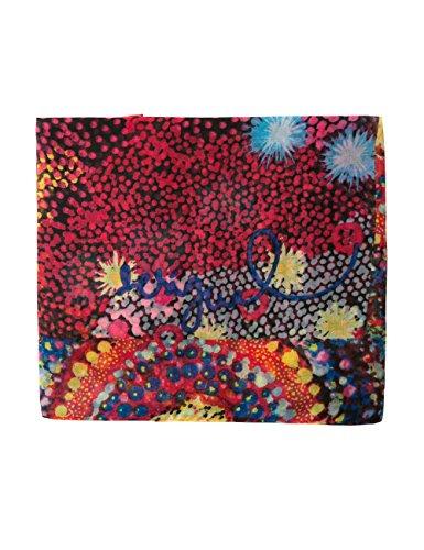 Desigual Women's Foulard_starfish Rectangle Scarf, Red (Red 3074), One Size (Manufacturer Size: U)