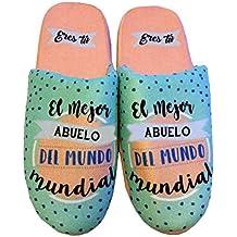 """Zapatillas T.XL """"El mejor Abuelo del mundo mundial"""""""